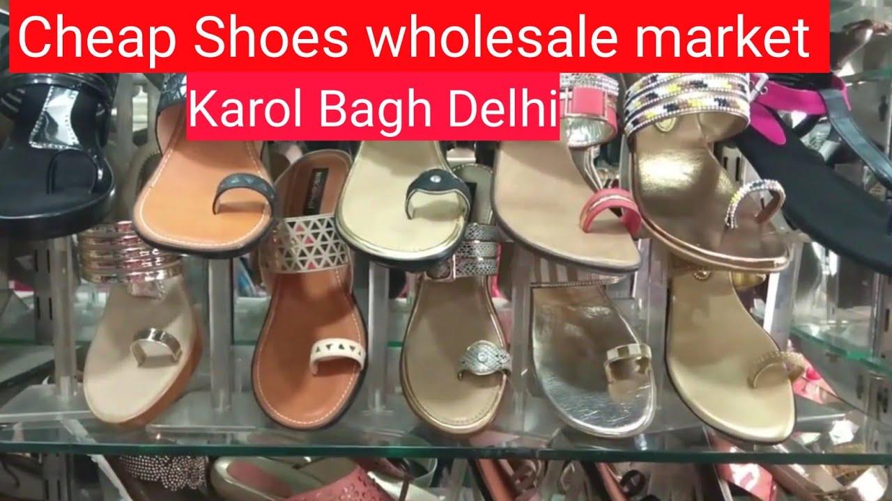 1645b96bc0eb Cheap Shoes Wholesale Market in Karol Bagh Delhi I Ladies Bulk Footwear  Manufacturing
