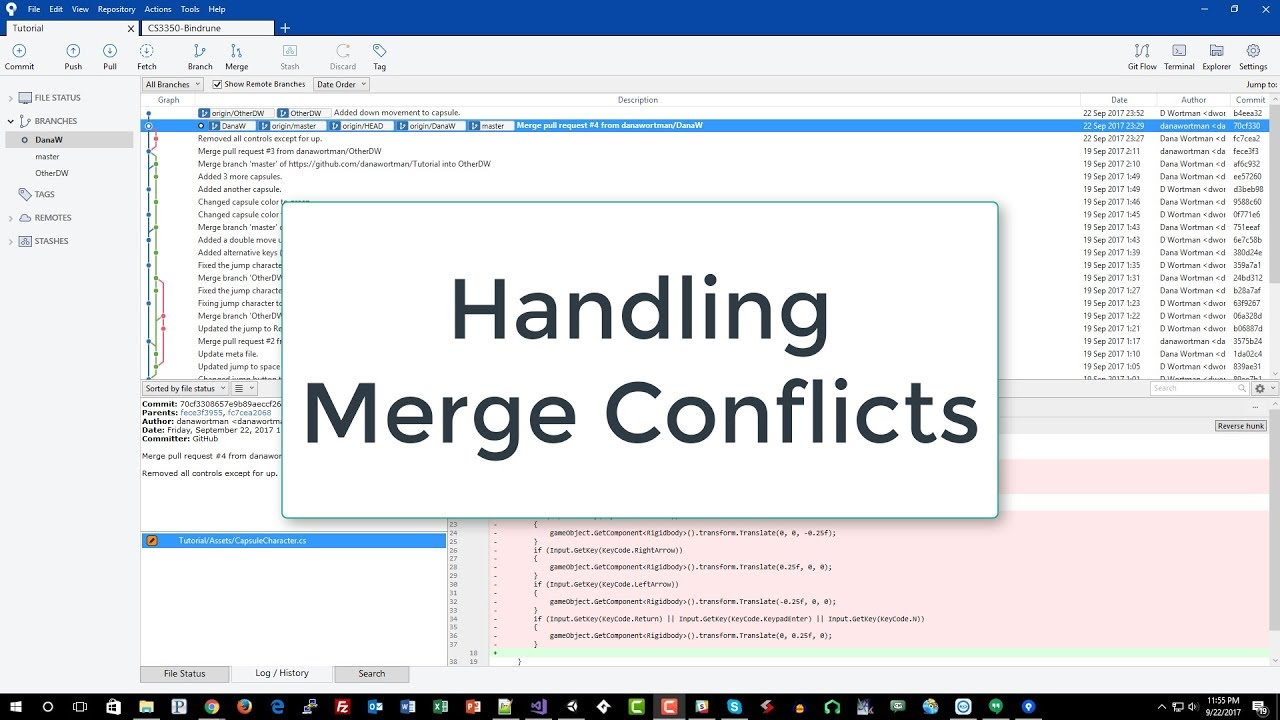 Handling Merge Conflicts with Visual Studio and SourceTree (7 of 9)