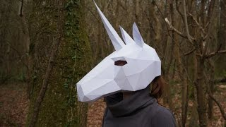 How to build a Wintercroft Unicorn Mask