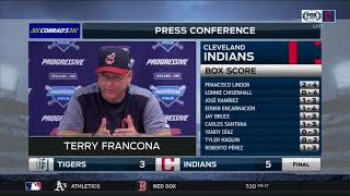 Cleveland Indians manager Terry Francona proud that everybody is contributing to the winning streak