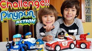PINYPON ACTION CHALLENGE 😱con Dani y Evan!! El SUPERDRON roba el coche del SUPER BOMBERO!!