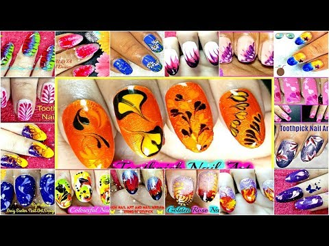 26 Toothpick Nail Art Compilation Within 5 Minutes