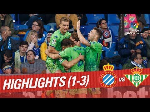 Highlights RCD Espanyol vs Real Betis (1-3)