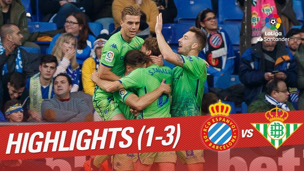 Highlights Rcd Espanyol Vs Real Betis 1 3 Youtube