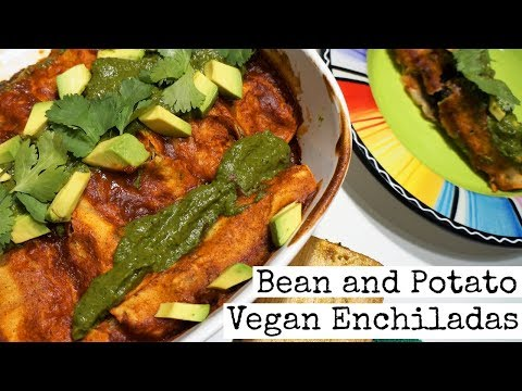 Vegan Bean & Potato Enchiladas