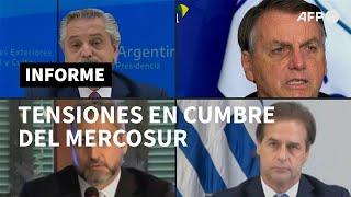 Brasil, Uruguay y Paraguay se enfrentan a Argentina en tensa cumbre del Mercosur | AFP