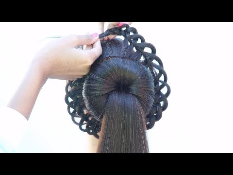 new-beautiful-and-easy-hairstyle-for-bridal-|-hairstyle-for-lehenga-|-latest-hairstyle-|-hairstyle