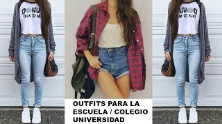 Outfits Casuales para Diario | Ir a Clase/ Universidad/ Colegio/ Moda 2016 2017 back to school