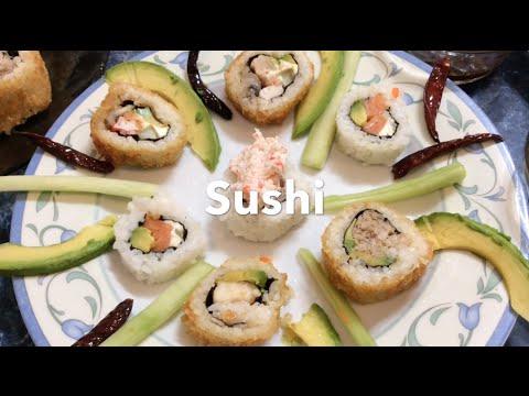 sushi rollos comida japonesa