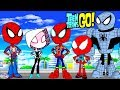 Teen Titans Go! Color Swap Spiderman Spider Gwen Spiderverse Surprise Egg and Toy Collector SETC