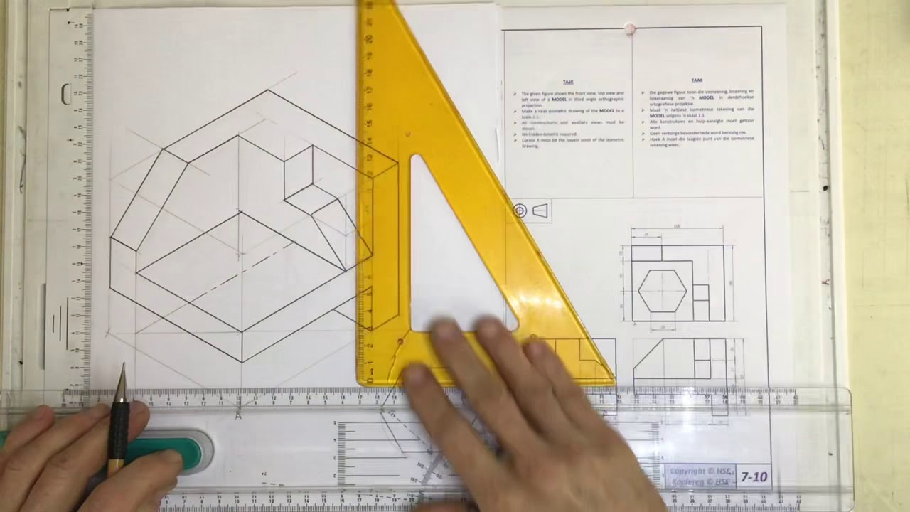 medium resolution of Isometric drawing 2020 video 2 (Gr10 HSE 7-10) - YouTube