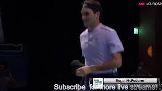 Roger Federer in a kilt match funny tannis 2017