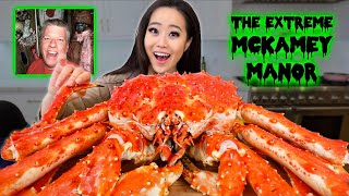 Giant 10 Pound WHOLE KING CRAB MUKBANG