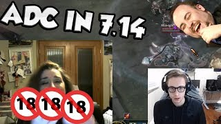 ADC in 7.14 | Rakan Baron Steal in LPL | Girl Shows D*ldo on Stream - LoL Funny Stream Moments #190