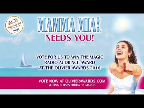 Vote MAMMA MIA! to win the Magic Radio Audience Award at the 2016 Olivier Awards!
