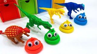 타이니소어, 공룡메카드, 핑크퐁아기상어 키네틱샌드로 핑크퐁 아기상어 무지개 슬라임 풀장 만들기 놀이