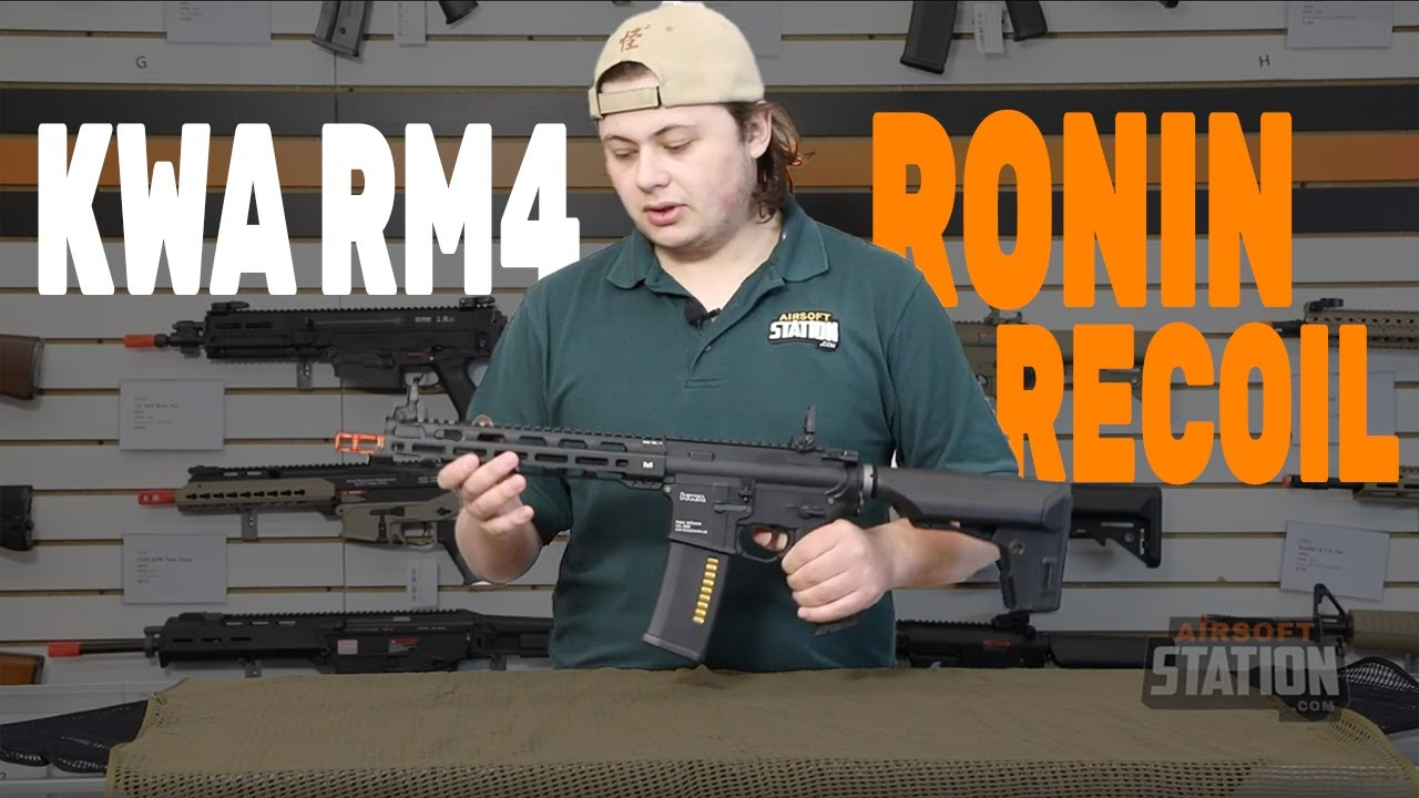 Kwa Rm4 Ronin Recoil Airsoft Gun With The Most Realistic Recoil Youtube