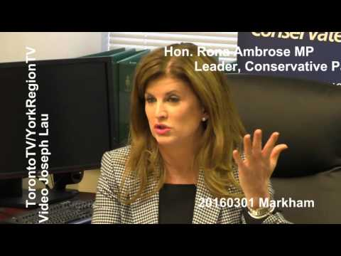 Hon. Rona Ambrose MP, Leader, Conservative Party, 20160301