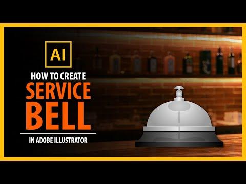 Service BELL in Adobe illustrator - vector tutorial thumbnail