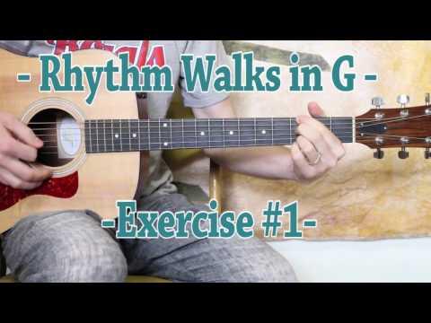 Rhythm Walks in G - Guitar Lesson - Rhythm Month of May!