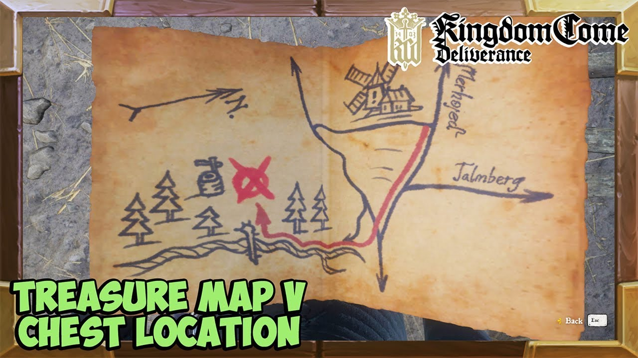 Kingdom Come Deliverance Treasure Map 5 Treasure Location (Unique Dyed  Milanese brigandine)