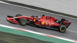 F1 2019 - Ferrari SF90 sound and on-track action