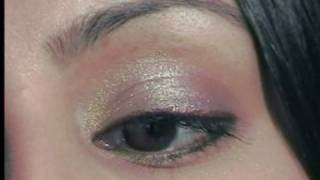 Smoky brown with a twist of lime make up tutorial