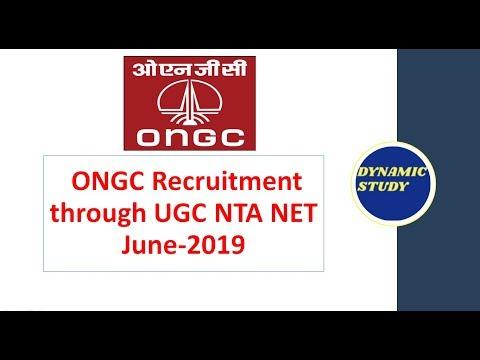 ONGC Recruitment through NET June-2019