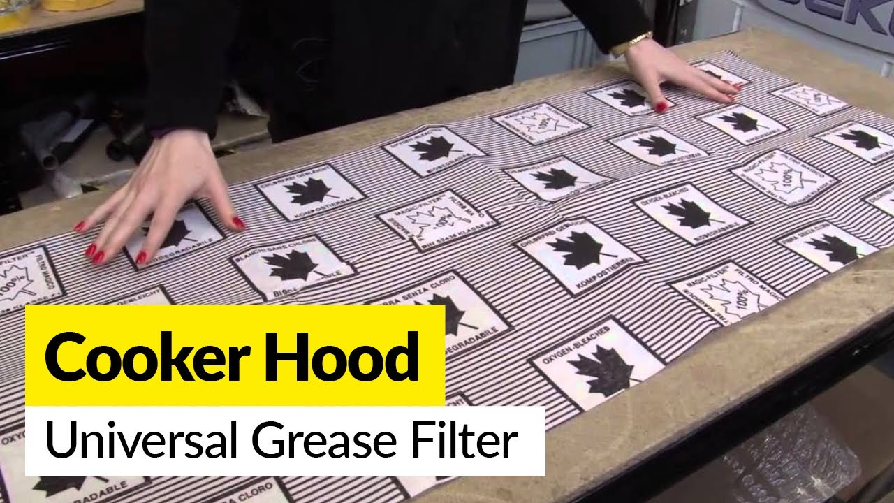 Hood Grease Filter Cooker Hood Universal Grease Filter Youtube