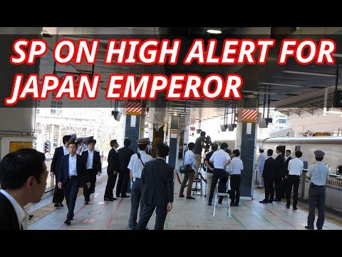 SP and Police on high alert when JAPAN EMPEROR and EMPRESS get on SHINKANSEN - 4K 60FPS HDR