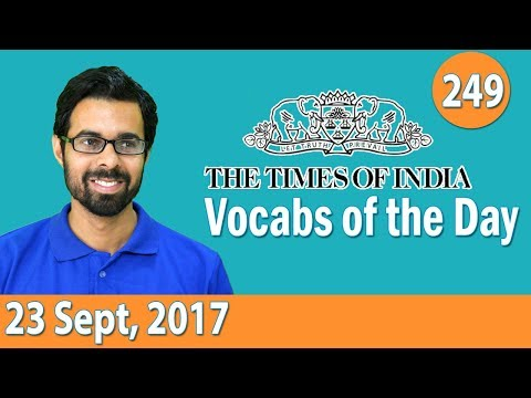 ✅ The Times of India Vocabulary (23 Sept, 2017) - Learn 10 New Words with Tricks | Day-249