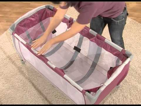hauck reisebett babycenter youtube. Black Bedroom Furniture Sets. Home Design Ideas