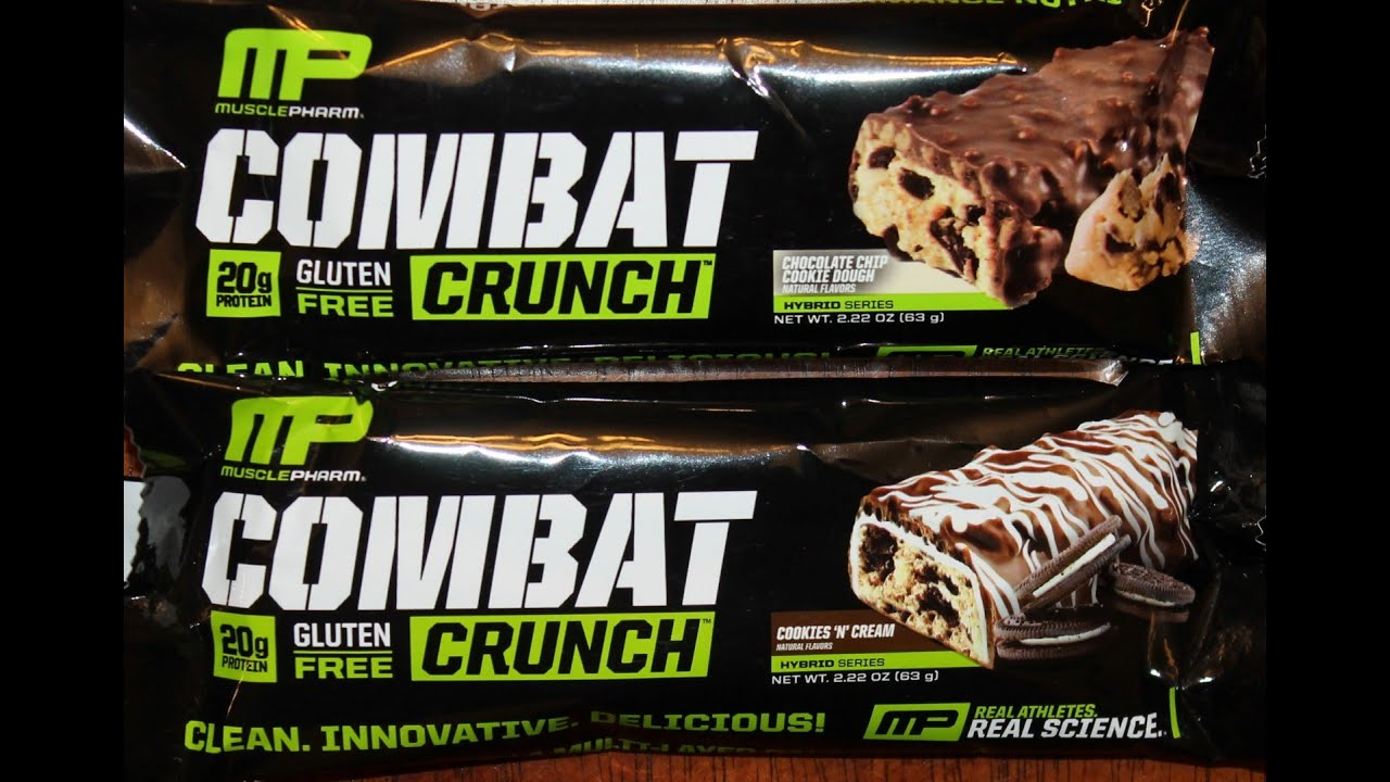 Count Musclepharm Combat Crunch Protein Bars Chocolate Cake