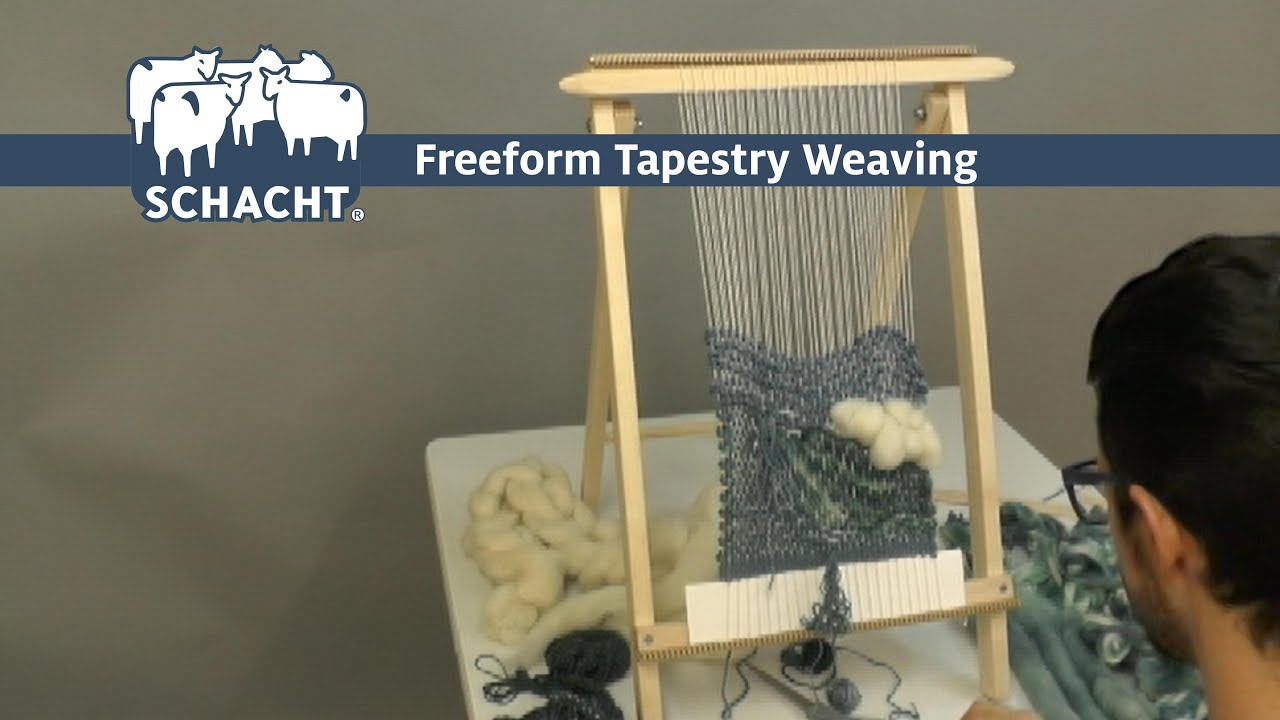 Freeform Tapestry Weaving Timelapse on the Schacht School