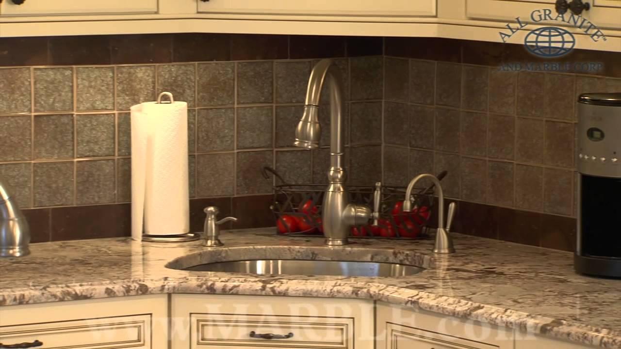 Bianco Antico Granite Kitchen Countertops by Marblecom