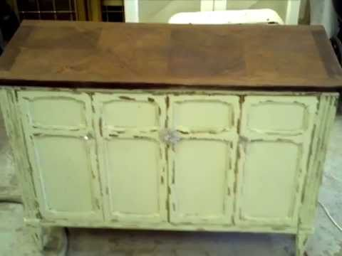 Shabby Chic Tutorial For Buffet Chest Shabby Chic Distressing: Restoration  Plantaton
