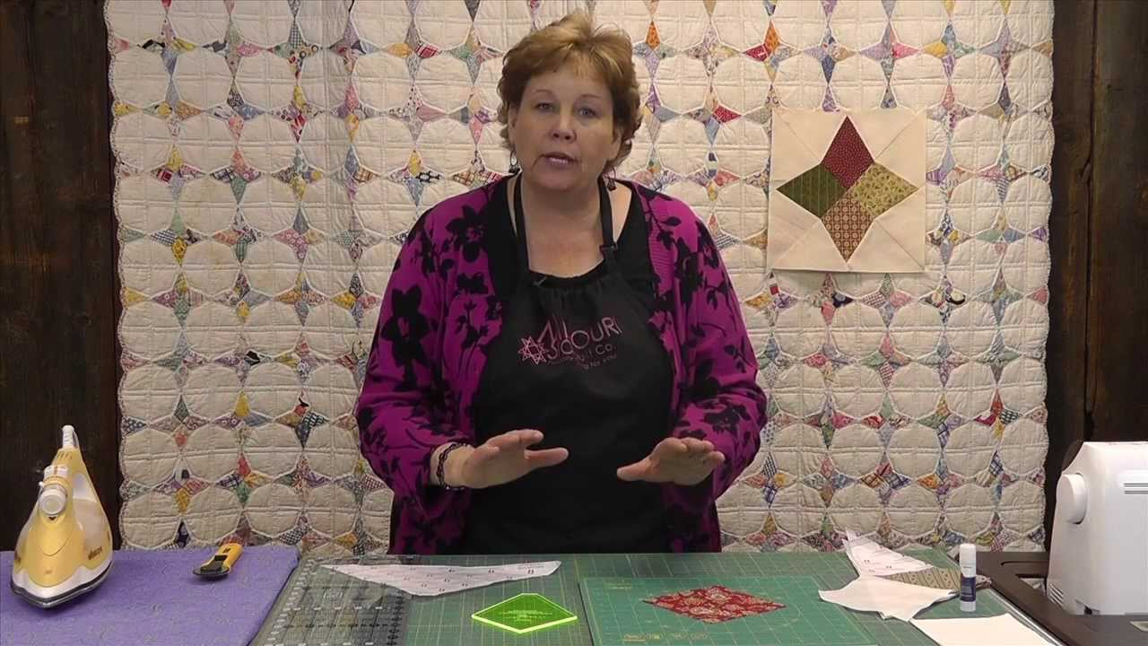 Periwinkle Quilt Update - Get the Perfect Point - YouTube : youtube videos quilt making - Adamdwight.com