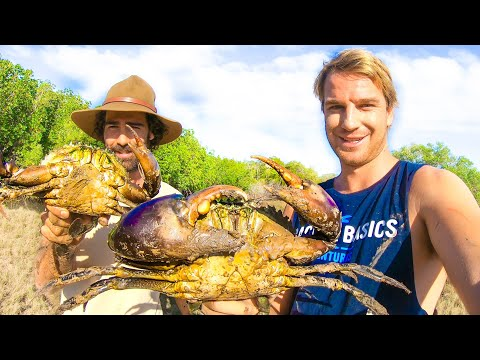 GIANT MUD CRAB Catch & Cook On Fire | BACK 2 BASICS!