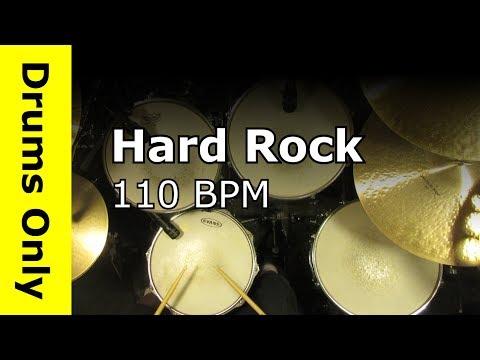 Hard Rock Drum Beat / Backing Track 110 BPM - JimDooley.net
