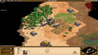 Age of Empires II: HD Edition - 1 vs 7 Hardest AI - [Ethiopians]