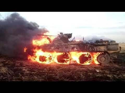 В России срочник спалил новый БТР 82 готовя обед на природе