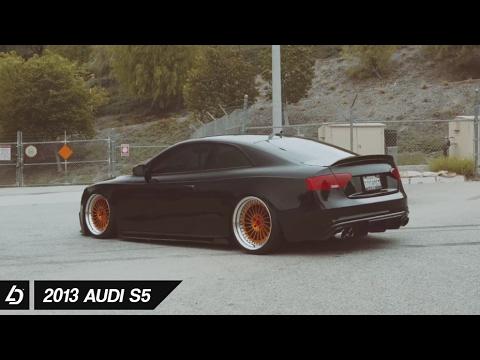 Slammed Audi S5 on Rotiform wheels