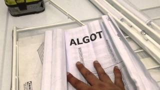 Ikea Algot Shelf Installation