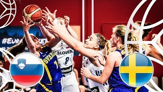 Slovenia v Sweden - Class. 15-16 - Full Game - FIBA U18 Women's European Championship 2018