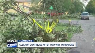 Neighbors in Hamburg continue tornado cleanup