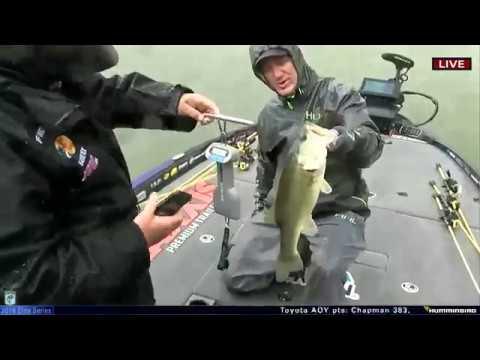 Brent Chapman's topwater catch on Lake Travis