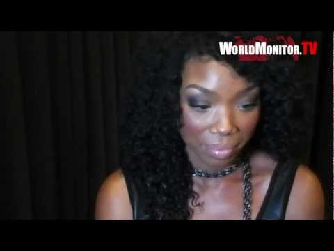 Brandy Norwood and boyfriend Ryan Press arrive at You, Me & The Circus film premiere