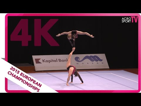 Bartashevich, Mikhnovich - Belarus - Senior balance final - European Championship 2015