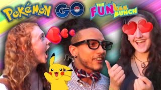 Pokemon Go! Nerdy Boy meets FUNkee Bunch in the Park! Elyssa and Heidi fall in love!