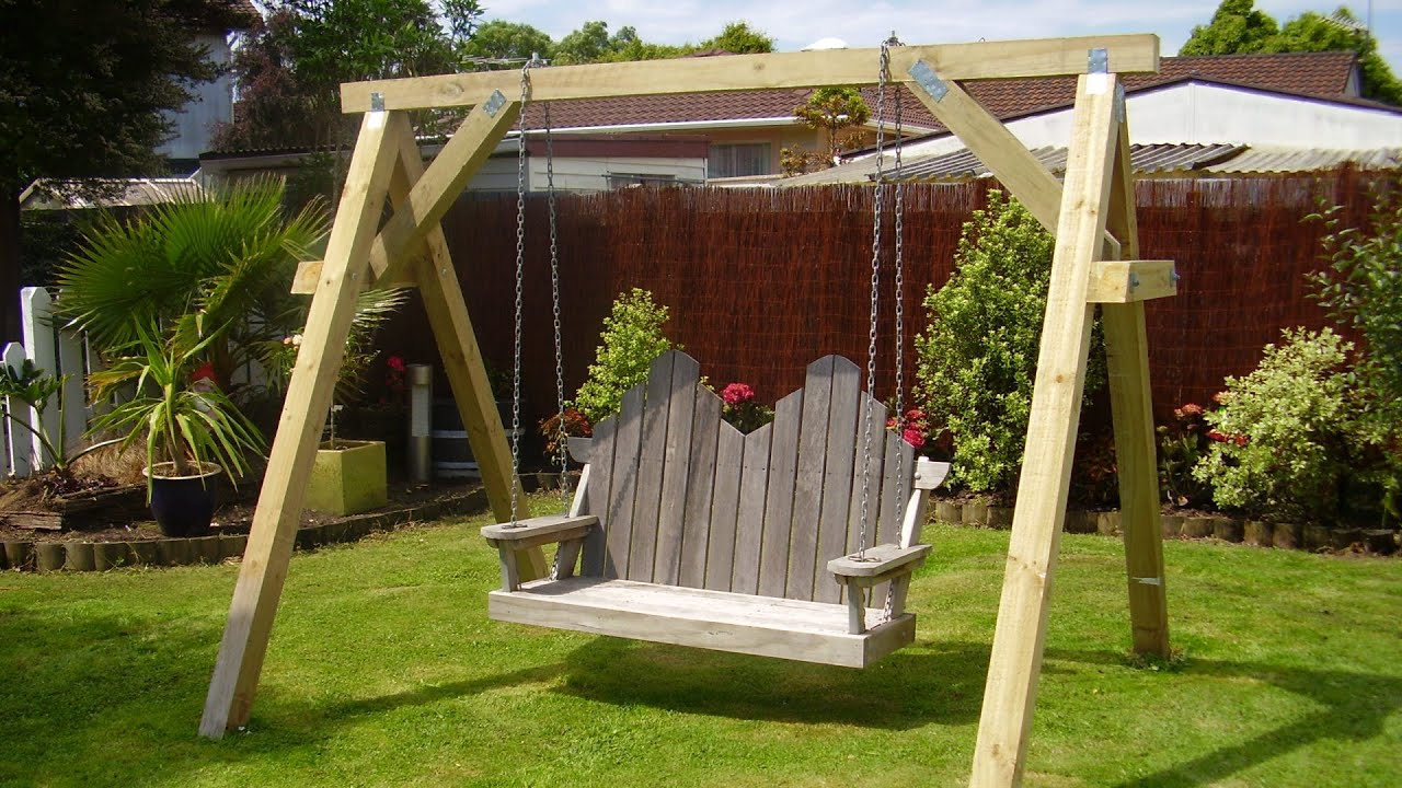 Bench Swing With Support Frame